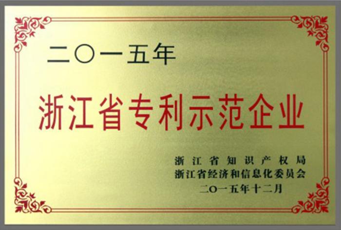 <span>浙江省专利示范企业</span>